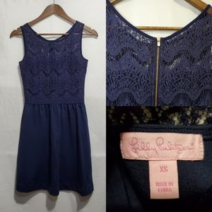 Lilly Pulitzer True Navy Rhea Dress XS